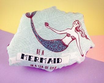 I'm Actually a Mermaid Seashell Catnip Kicker Pillow