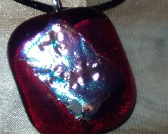 Fused Dichroic Glass Pendent
