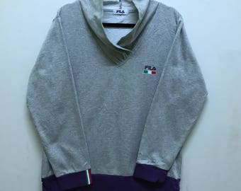 Rare!!! Fila Pullover Spellout Embroidered With Italy Flag