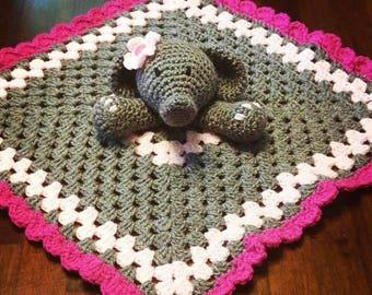Baby Elephant Thumbie Blanket