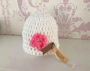 Handmade Crochet Beanie Hats for Newborn