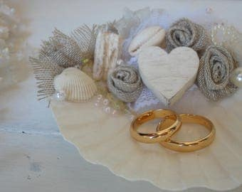 Shell ring holder Wedding Ring Holder Seashell Ring Bearer