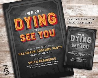 Halloween Party Invitation / Invite - Costume Party - Custom Personalized 5x7 Printable