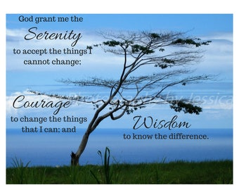 Serenity Prayer Art Print
