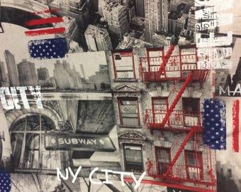 Tissus d 39 ameublement imitation lin imprim l phants - Tissu imprime new york ...