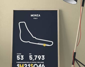 MONZA • Printable Wall Art • Poster High Quality •