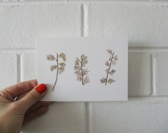 Seaweed pieces postcard