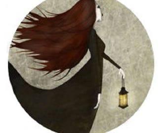pretty cabochon fairy lantern, 20mm