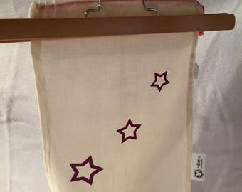 storage pouch purple stars
