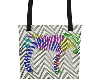 Zebra Foal In Colour - Tote bag