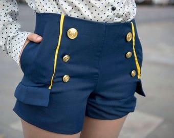 Sailing Love Waisted Short Pants