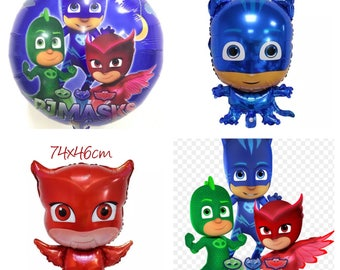 PJ Masks Party Helium Foil Balloon. Party Supplies Lolly Loot Bags Bunting Banner Room Decoration Cake Stickers
