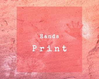 Limited Edition 8 X 10 Print of Hands Petroglyph