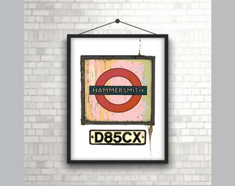Hammersmith London Underground Sign