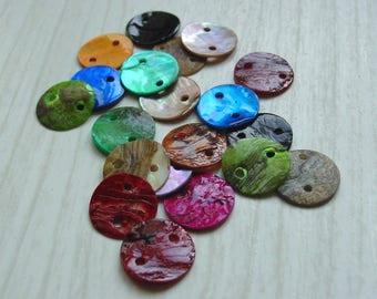 Set of 20 2 pearl beads 13 mm diameter hole