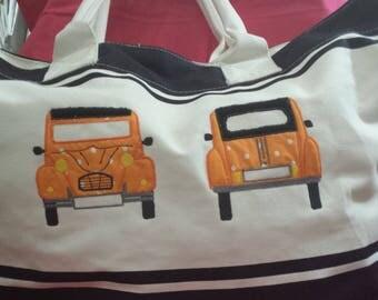 Navy Blue shopping tote bag beach bag