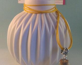Bottle charm yellow flower pendant