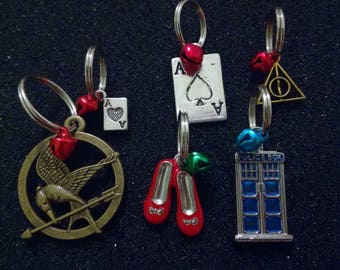 Cat & Dog Collar Charms Fandom Doctor Who Harry Potter The Hunger Games Harley Quinn Wizard of Oz