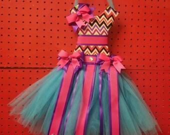 Tutu Hair Bow Holder Dress