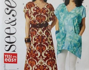 Butterick See & Sew Pattern B5739, Misses Dress, Misses Pants, Misses Top, Size XS-XXL, OOP