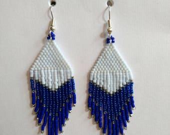 These earrings. Has fringe, Miyuki beads
