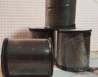 Black Color Thread / Polyester Thread on 200 yard Spools / Sewing Thread