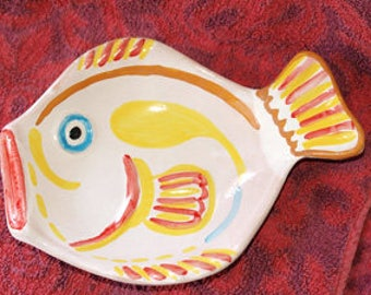 Ceramic plate second fire, manual, hand made decoration