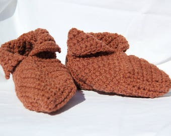 slippers woolen Brown size 38-39