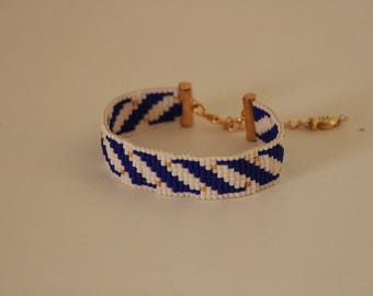 Navy woven Miyuki Beads Bracelet