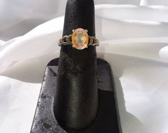 Mercury Mystic Topaz and Sterling Silver Ring