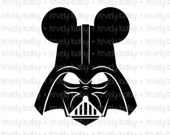 Star Wars Darth Vader Christmas SVG MICKEY HAT, Baby Shirt Onesie, Cuttable File, dxf, eps, jpg, png Baby Boy, Cricut, Silhouette, Instant