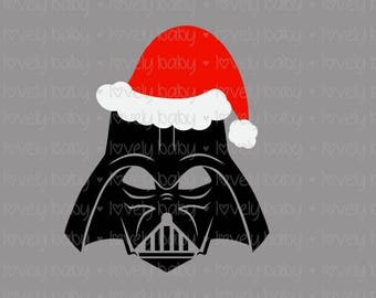 Star Wars Darth Vader Christmas SVG SANTAS HAT, Baby Shirt Onesie, Cuttable File, dxf, eps, jpg, png Baby Boy, Cricut, Silhouette, Instant