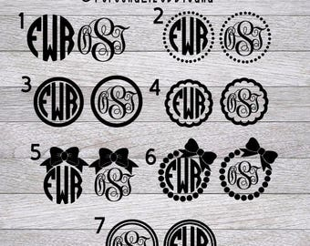 Monogram  Decal - Monogram Sticker - Monogram Decals - Monogram Laptop Decal - Car Decal - Custom Cup Decal - Monogram Car Decal