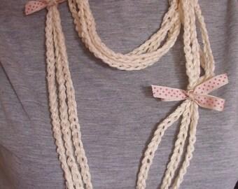 VERY ORIGINAL cotton NECKLACE / jewelry XXL trendy