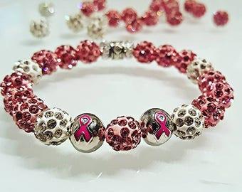 Women's Breast Cancer Awareness Shambhala Bracelets