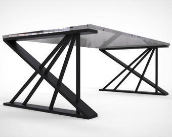 Table runners legs table frame steel industry modern design 90 x 57 cm