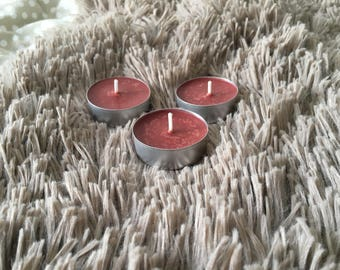Cherry scented Soy Wax tea light candles