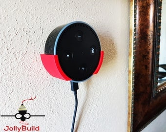 Amazon Echo Dot Wall Mount snap fit 3d Printed with 2x screws
