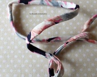 3 m cord 8mm flower patterns fabric Ribbon.