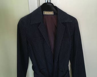 Cache D'or navy blue pinstripe suit