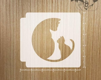 Cat and Kitten 783-611 Stencil