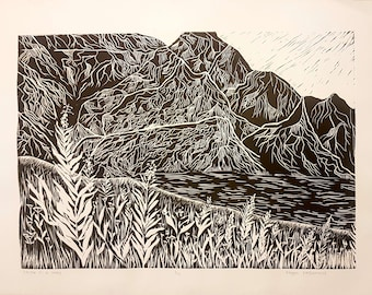 Louise In A Way (Linocut Print - Limited Edition)