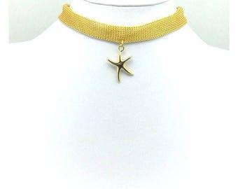 Gold star choker, Gold choker, Star choker, Boho choker, Star necklace, Choker necklace, Women choker, Star charm choker, Gift for her