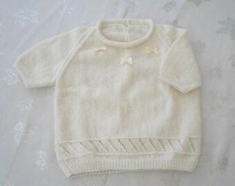 Girl pullover cream 3-4 years