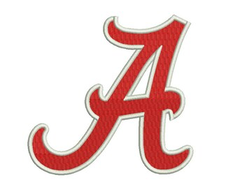 Alabama Crimson Tide Emblem Embroidery Design #2 - 5 SIZES