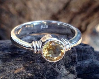 Citrine Ring. Size 6 3/4