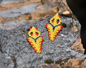 Yellow mactame earrings