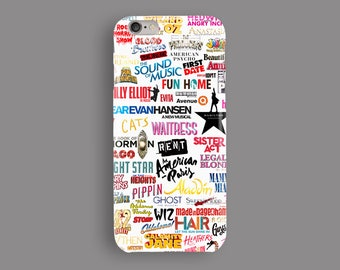 Musicals Phone Case, iPhone 5S Case, iPhone 6S Plus, iPhone 7 Case, iPhone 8 Plus Case, Samsung Galaxy S8 Case, Galaxy S7