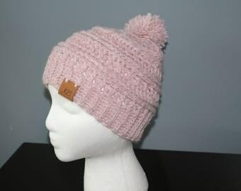 Crochet Rose Pink Child's hat