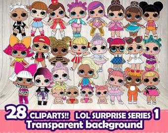 LOL SURPRISE clipart, LOL surprise digital file,Lol surprise themed party,Lol surprise Series 1 doll.Lol surprise scrapbook,Lol dolls png